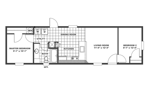 Agl homes clayton homes inspiration series clayton for 16 foot wide mobile home floor plans